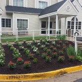 Mulch and seasonal flowers by Picture Perfect Lawn Maintenance Chesterfield VA (804) 530-2540