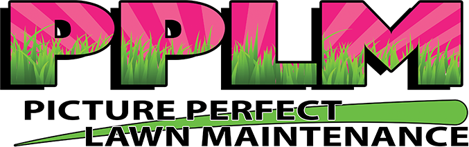 Picture Perfect Lawn Maintenance | 804-530-2540 | pink yard service logo PPLM