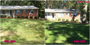 Picture Perfect Lawn Maintenance | 804-530-2540 | Before and After | best landscape maintenance lawn care Richmond VA