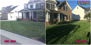 Picture Perfect Lawn Maintenance | 804-530-2540 | Before and After | full service lawn care company professional fertilization Midlothian VA